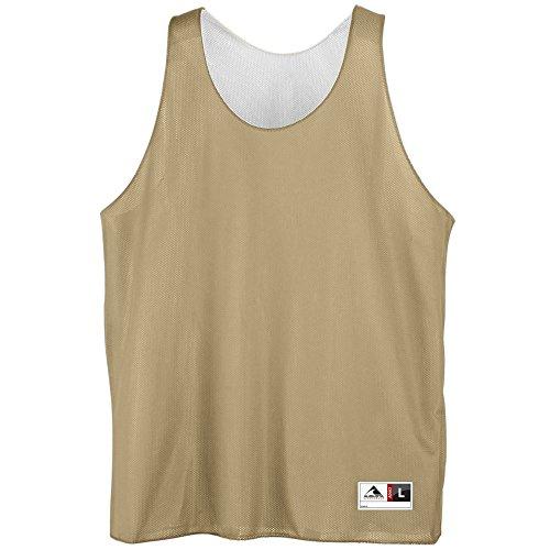 Youth Reversible Mini Mesh League Tank - VEGAS GOLD WHITE MEDIUM by Augusta Sportswear