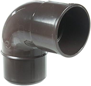 marron Goutti/ère PVC 16 demi-ronde Coude PVC 87/°30 MF pour tube de descente /Ø50