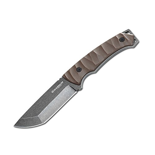 Boker Magnum 02MB540 Breacher Knife with 4 1/4 in. 440 Stainless Steel Blade, Brown