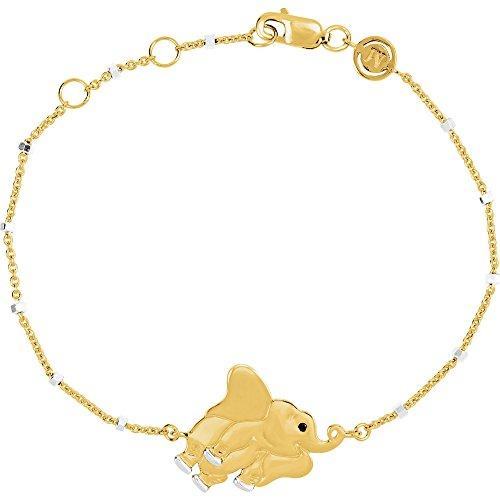 Black Onyx 18k Yellow Gold Vermeil Elephant Symbol for Strength 7.5