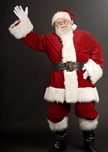 LUXURY DELUXE DEEP RED VELVET SANTA SUIT..PROFESSIONAL FATHER CHRISTMAS COSTUME