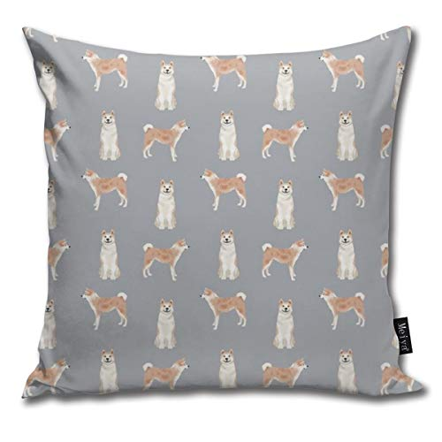 (shirt home Akita Dog Pet Portrait Dog Breeds Grey Comfortable Soft Bed Pillow Case Household Pillow Case Office Bolster 18x18 Inches)
