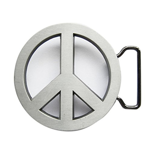 New Vintage Peace Symbol Love Sign Belt Buckle also Stock in US ()