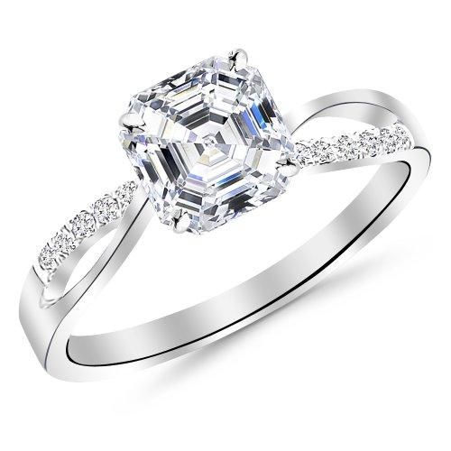 0.50 Ct Asscher Diamond - 1