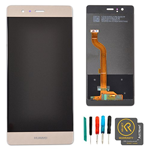 KR-NET Prestige Gold LCD Touch Screen Digitizer Assembly for Huawei P9 Dual Standard EVA L19 AL00 DL00 TL00 + Tools