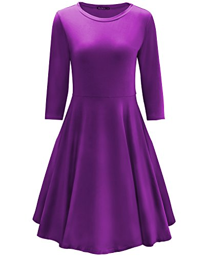 Purple Cotton Dress - 8