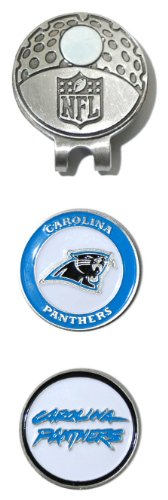 NFL Carolina Panthers Cap Clip With 2 Golf Ball Markers