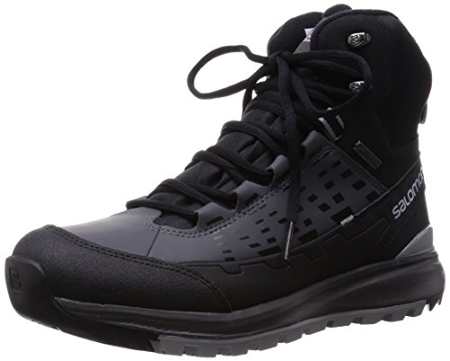 SalomonKaïpo Mid GTX - zapatillas de trekking y senderismo de media caña Hombre Gris - Grau (Black/Autobahn/Pewter)