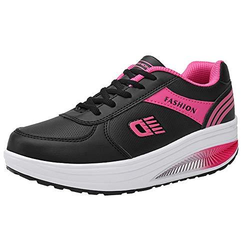 EU Unie 36 Sport GongzhuMM Noir 40 Lacets Couleur Chaussures étudiants pour Chaussures à Rouge de Femmes Course 5 Sneakers Noir Dames pour Rose de Baskets xqqzwRg0p
