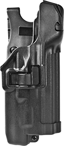BLACKHAWK! SERPA Level 3 Light Bearing Auto Lock Duty Holster, Right Hand, Black (S&W M&P 9/40 with/w/o Thumb Safety)