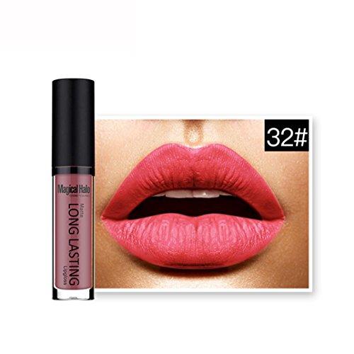 Lipstick, Hatop Waterproof Matte Liquid Lipstick Long Lasting Lip Gloss Lipstick (O)
