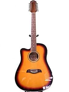 left hand oscar schmidt by washburn 12 string acoustic electric guitar lefty. Black Bedroom Furniture Sets. Home Design Ideas