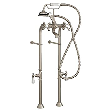Clawfoot Tub Freestanding Classic Telephone Faucet Hand Held