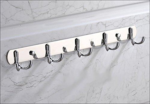 High-grade Design Home Wall-Mount 6 Hook Rack, Stainless steel