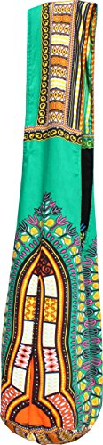 Green Shoulder Dashiki Amber Long Bag RaanPahMuang Pattern Yellow Strap Reversable Monks wvq58Iq