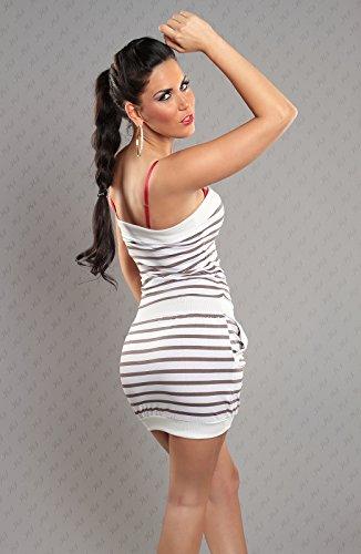 WeaModa - Vestido - Sin mangas - para mujer gris 38
