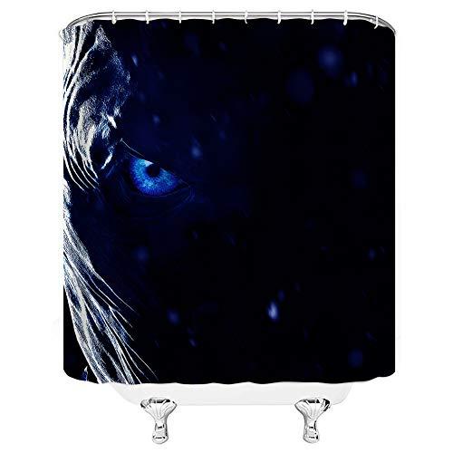 Waynejunior Devil's Eye Shower Curtains Dark Blue Movie Theme Home Decor Collection Polyester Fabric Bath Curtain with 12 Hooks 66X72inch 165X180cm