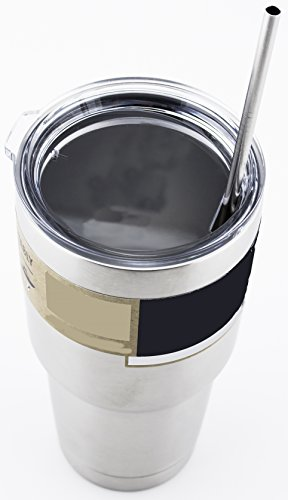 Yeti Coffee Thermos: 4 LONG Stainless Steel Straws Fits 30 Oz Yeti Tumbler