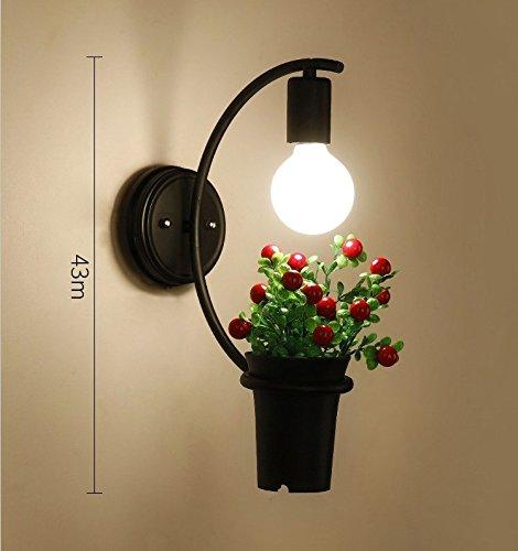 AGECC 110-230V Wandleuchte Lampe für den Innenbereich   Retro Wandleuchte Industrie Windbar CAF Lounge Wohnzimmer Wandleuchte, Q