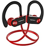 Bluetooth Headphones, TRINIDa IPX7 Waterproof Sport Wireless Headset for Running, Best in Ear Earbuds HiFi Stereo with Mic 10 Hours Playback Gym Workout Passive Noise Cancel Wireless Earphones (red)
