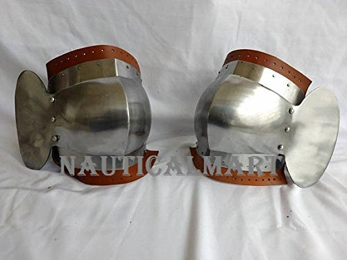 Steel Knee Cops Medieval Armour Knee Protection Renaissance Replica Costume by NAUTICALMART