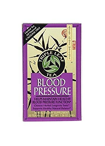 Herb Tea Pressure Blood (Triple Leaf Tea, Tea Bags, Blood Pressure, 1.06-Ounce Bags, 20-Count Boxes, Pack of 6)