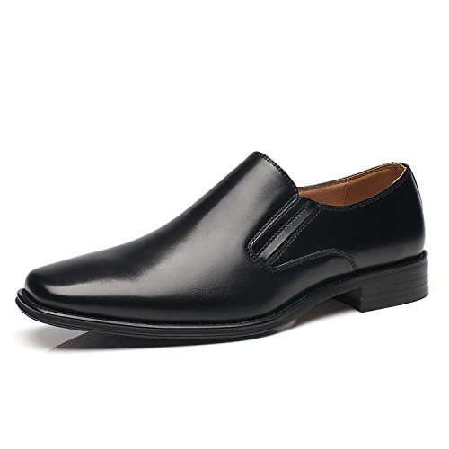 NXT NEW YORK Genuine Leather Men Dress Shoes Plain Toe Slip On Loafer Shoes for Men Zapatoe de Hombre Comfortable Classic Modern Formal Business Shoes ()