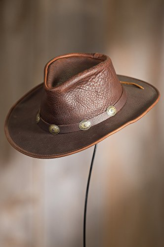 Overland Sheepskin Co Raging Bull Leather Cowboy Hat by Overland Sheepskin Co (Image #2)