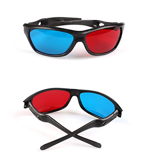 Active 3D Glasses Blu Ray Movies 3D Vision Anaglyph 3D Glasses 1Pcs