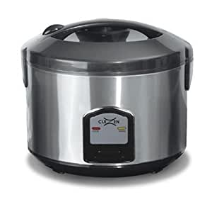 20-Cup Stainless Steel Rice Cooker with Steam Tray
