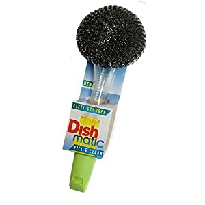 2 x Dishmatic Steel Scourers for cleaning BBQ's, Grills, Hot Plates, Steel Pots & Pans by Caraselle