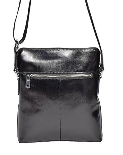 À Italien Flint Casual Goods Noir Le Fashion Crossbody Supérieure Top Qualité A1 Sac Dernier De En Cuir Bandoulière Zip HOCqwf