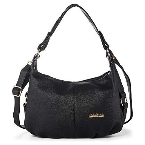 Women PU Leather Shoulder Bag Crossbody Purse Top Handle Satchel Handbag with Double Straps + Katloo Nail Clipper
