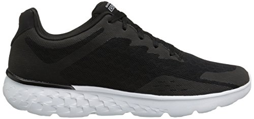 Skechers Performance Herren Go Run 400 Disperse Laufschuh Schwarz / weiß stricken
