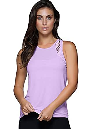 Lorna Jane Women Pepper Active Tank, Soft Lilac, S