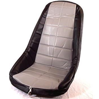 Dune Buggy Vw Baja Bug Empi 3882 Black Vinyl Low Back Bucket Seat Cover Each