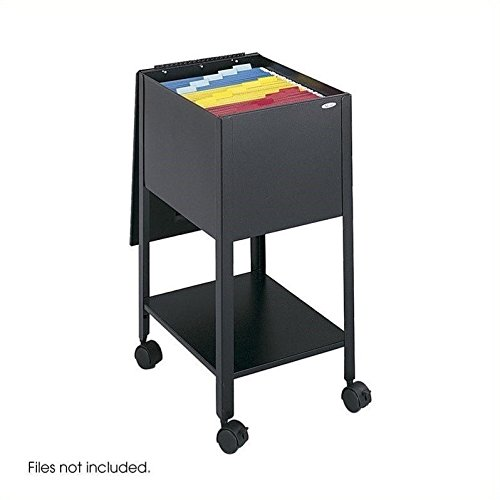 Safco Products 5360BL Economy Mobile Tub File, Letter Size, Black