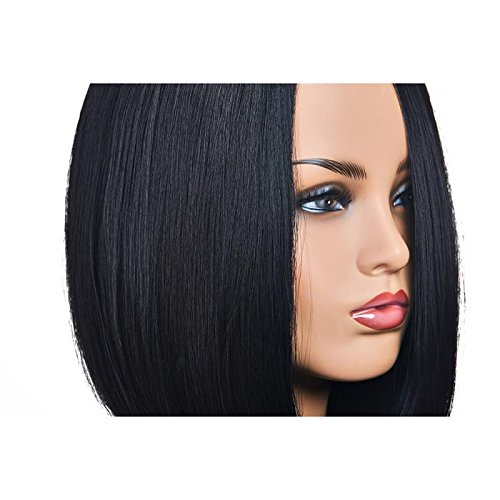 14 Bob Wigs Short Straight Syntheyic Hair Full Wigs For Women Natural Looking Heat Resistant