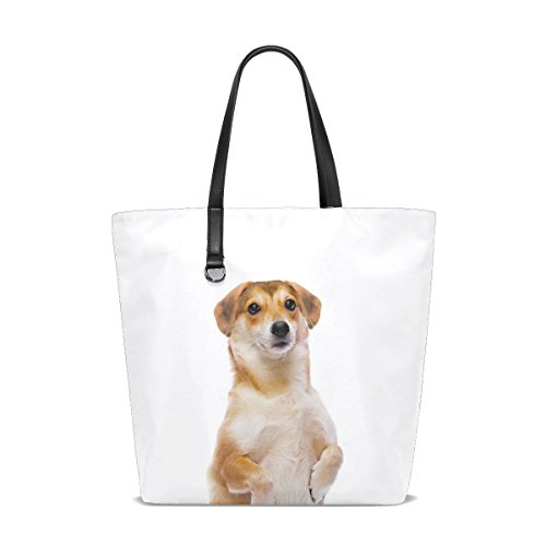 te Yellow Pet Small Fluffy Puppy Tote Bag Purse Handbag For Women Girls ()