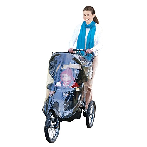 r Weather Shield, Baby Rain Cover, Universal Size to fit most Jogging Strollers, Waterproof, Windproof, Ventilation,Protection, Pram,Vinyl, Clear, Plastic ()