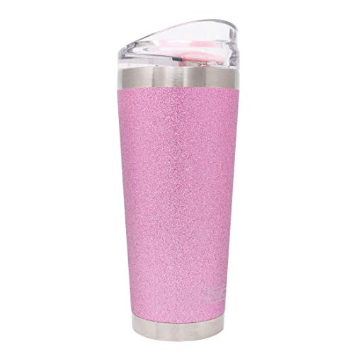 MyBevi Classic Stainless Steel Premium Grade Insulated Travel Tumbler (Pink Sparkle, 26 oz)