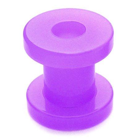 TDi bodyjewellery Écarteur Tunnel acrylique Neon vis de 12 mm Violet fluo Tunnel écarteur