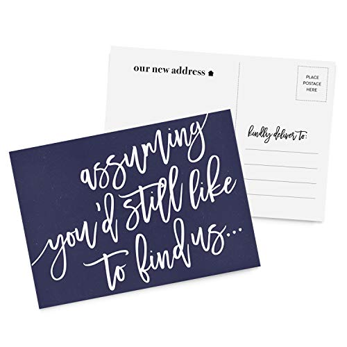 - Sassy Moving Announcement Postcards from Tumbalina, 50 Postcards, We've Moved Postcards, New Address, Just Moved, New Home, Change of Address Postcards - Blue