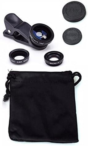 KSTrade 3in1 ClipOn Camera Adapte Lensensenset Lensset Voor Mobiele Telefoon Camera Lens Kit Compatibel Met Asus ZenFone 5 Selfie Groothoeklens Vissenoog Macrolens 1x