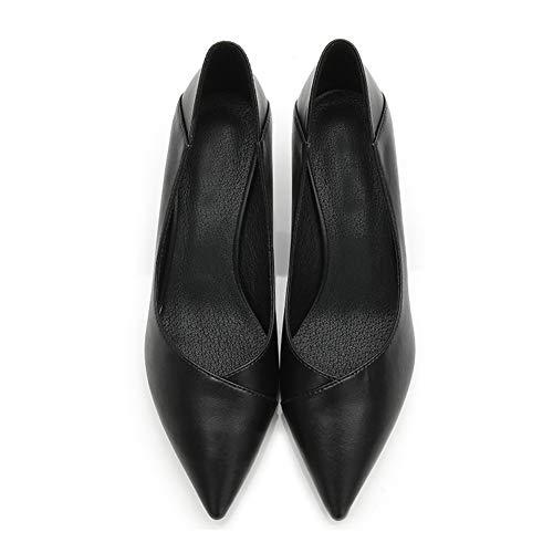 Formal Pompes Chaussure Pour Confort Élégant Talons Shallow Travail Fête Femmes Escarpins Noir Mi 5cm Bureau Tenthree Classique Mariage De Chaton tOqdZgOw