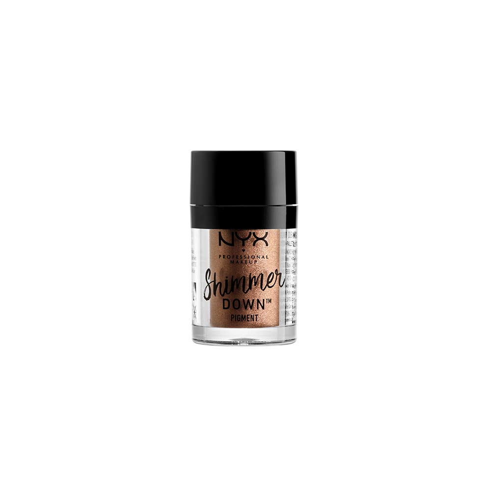 NYX PROFESSIONAL MAKEUP Shimmer Down Pigment, Almond, 0.05 Ounce
