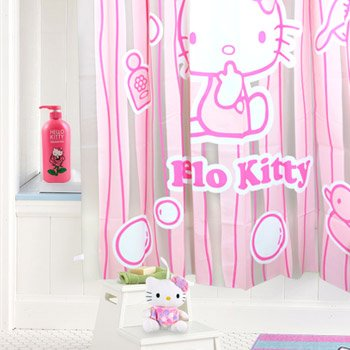 Hello Kitty Shower Curtain Stripes Amazoncouk Toys Games