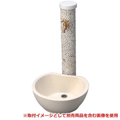 水栓柱 一口水栓柱 アン ペブル 立水栓+ガーデンパン(水受け)セット 蛇口別売 SC-UN-PB-OP GPT-RVG-IV B07B3Q8L93