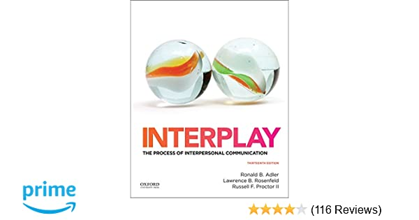 Interplay the process of interpersonal communication 9780199390489 interplay the process of interpersonal communication 9780199390489 communication books amazon fandeluxe Images
