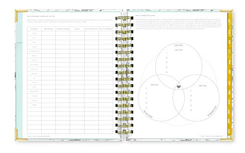 Day Designer 2019-2020 Daily Life Planner and Agenda, Hardcover, Twin-Wire Binding, 9'' x 9.75'', White Marble by Day Designer (Image #4)